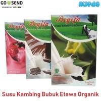 Begifa Susu Kambing Etawa Bubuk Organik Strawberry Coklat Original