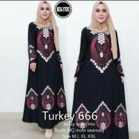 Abaya bordir komputer Turkey 666