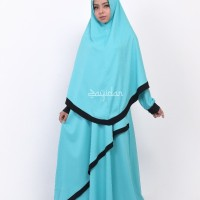 Baju Gamis Syari Set dengan jilbab - Bilqis - Queenza