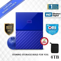 "WD My Passport 4TB - HD HDD Hardisk Eksternal External 2.5"" USB 3.0"