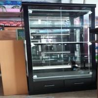 Harga lemari hias kaca lemari pajangan hitam 2 | DEMO GRABTAG