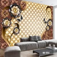 Wallpaper Custom Motif Bunga 3D Klasik