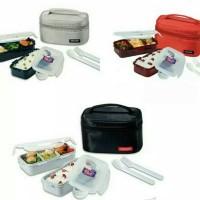 lock n lock lunch Box 2 Pcs with Bag & Spoon Fork Set locknlock