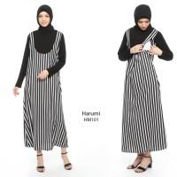 Just Mom Baju menyusui HARUMI Black Stripe HM101