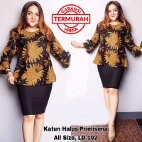 Blouse Batik Wanita Kantoran Blouse Lonceng 03 Mars Batik Amanah