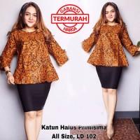 Blouse Batik Wanita Kantoran Blouse Lonceng 01 Mars Batik Amanah