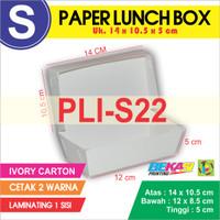 PLI-S22 Paper Lunch Box Ukuran S + Cetak 2 warna & Laminating 2 Sisi
