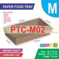 PTC-M02 KRAFT Paper Tray / Piring Kertas Uk M + Laminating 2 Sisi