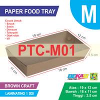 PTC-M01 KRAFT Paper Tray / Piring Kertas Uk M + Laminating 1 Sisi