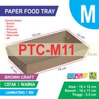 PTC-M11 KRAFT Paper Tray Ukuran M + Cetak 1 Warna & Laminating 1 Sisi