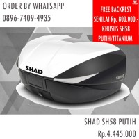 Box Shad SH58X Cover White FREE BACKREST