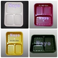 Bento mika 3 sekat/ Bento tray/ Lunchbox/ Tempat makan