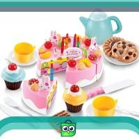 istanatoys.id MAINAN KUE POTONG / DIY BIRTHDAY FRUIT CAKE 54 PCS