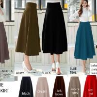 Mid Length Flare Skirt
