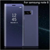 Samsung Galaxy S8 S8 Plus Note 8 Note 9 Flip Cover Mirror Clear View