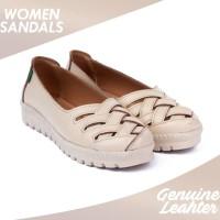 Sepatu Wanita Casual Kulit Asli SPW-08 Kickers - Putih