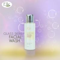 Facial Wash Glass Skin Pemutih Wajah/Sabun Muka Whitening Ellaskincare