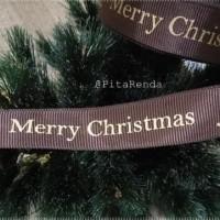 DIJUAL PGM-896 : PITA GROSGRAIN MERRY CHRISTMAS 1 INCH (PER METER) -
