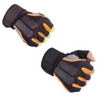 Harga sarung tangan half finger sepeda fitnes bagus murah buzper | antitipu.com