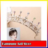 Mahkota pernikahan tiara aksesoris rambut pengantin wedding crown qs55