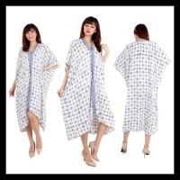 Harga kaftan batik kawung putih fatimah eliza dress terusan batik | Pembandingharga.com