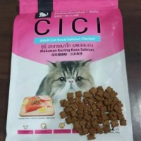 Makanan Kucing Cici Salmon REPACK 500gr dry food cat no cuties whiskas