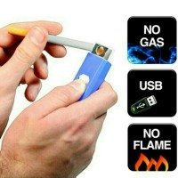 Korek Api Elektrik USB Cigarette Lighter Rechargeable Rokok Korek Api
