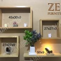 Rak kayu Zee 1 set (4 pcs)
