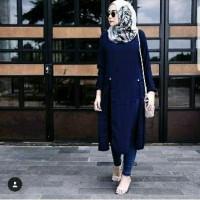 Harga pevita long tunik atasan blouse baju muslim baju kerja model | Pembandingharga.com