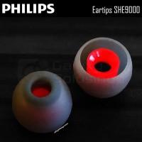 PHILIPS Eartips Earbud Earphone SHE9000 Karet Replacement - Medium
