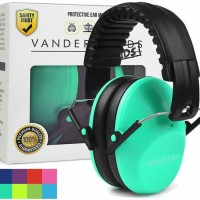Vanderfields Earmuffs for Kids Hearing Protection Muff Turquoise Green