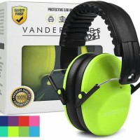 Vanderfields Earmuffs for Kids Hearing Protection Muffs Lime Green
