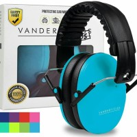 Vanderfields Earmuffs for Kids Hearing Protection Muffs Sky Blue