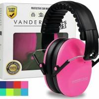 Vanderfields Earmuffs for Kids Hearing Protection Muffs Pink