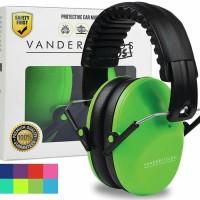 Vanderfields Earmuffs for Kids Hearing Protection Muffs Green