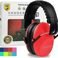 Vanderfields Earmuffs for Kids Hearing Protection Muffs Red