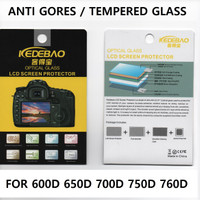 Tempered Glass Canon 700D 750D 760D 600D 650D anti gores screen pro