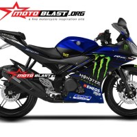 Decal Stiker Yamaha R15 V2 monster energy GP 2019