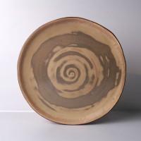 "Brown Mosaic 10"" Dinner Plate / Piring Makan / Cantik / Unik"