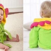 Kimono Handuk Anak Karakter Bunga Hijau