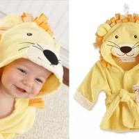 Kimono Handuk Anak Karakter Singa Kuning