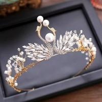 Mahkota rambut tiara wedding crown rambut pesta pengantin CC295 thumbnail