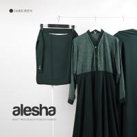 Stelan gamis fursan embos jilbab panjang selutut + cadar bandana