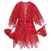 Lingerie seksi kimono set luxury Bra G-string Baju Tidur Cd A180