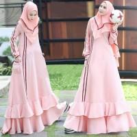 Gamis Syari Mostcrepe Linara Pink