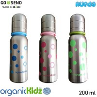 OrganicKidz Narrow Neck Baby Bottle 200ml Botol Susu Stainless
