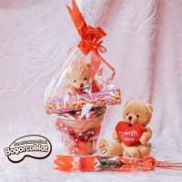 Hadiah Valentine Teddy Pot