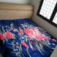 Bed cover bedcover bulu tebal cantik