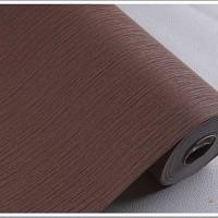 Wallaper Dinding Polos Salur Coklat 53cm x 10m Solid P7701-4