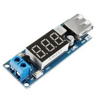 USB Charger LED Step Down Buck Converter Voltmeter Module